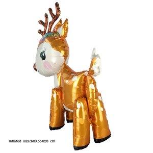 Image 5 - New 3D Dễ Thương Deer Helium bóng bay Lá Phim Hoạt Hình Động Vật Nai Sừng Tấm Bóng Sinh Nhật Bé Tắm Wedding Party Nguồn Cung Cấp Trang Trí