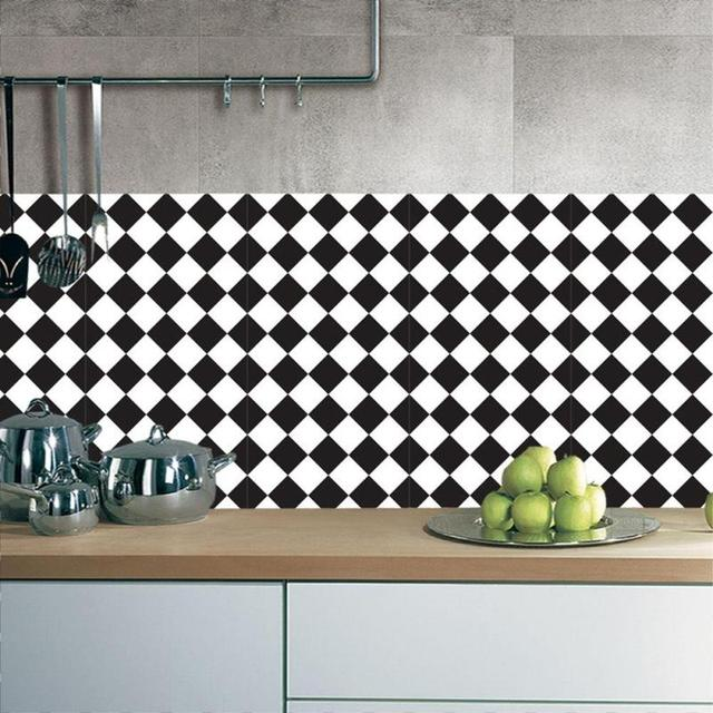 Superior 45*90cm White And Black Waterproof Wall Sticker Kitchen Bathroom Tile  Stickers Wall Decals Decoration Ideas