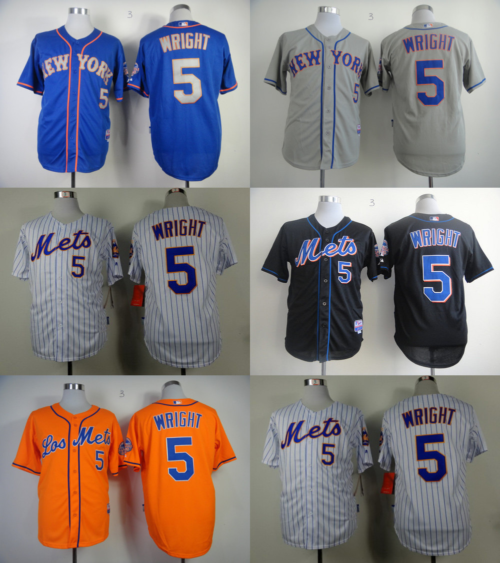 purchase cheap 1af14 319d1 5 David Wright Jersey Mets Orange Grey,Black Blue,White ...