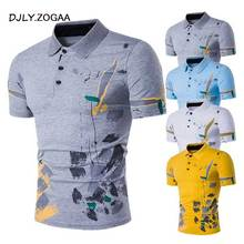 ZOGAA Men Polo Shirt Short Sleeve Casual Male Polos Shirts Print Slim Fit New Summer Man Clothes 2018