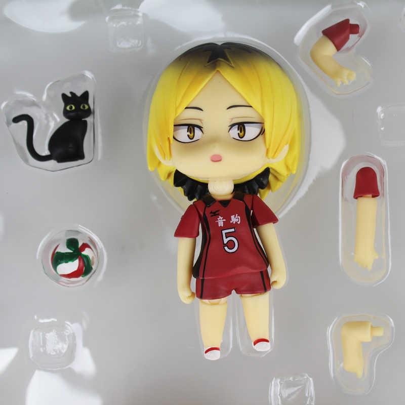 Kotee 10cm Anime-Abbildung Haikyuu !!Kozume Kenma Q Version Nendoroid Bewegliche Figur PVC Anime Cartoon Game Character Modell Statue Figur Spielzeug Collectibles Dekorationen Geschenke Modell