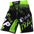 VSZAP Men's Muay Thai Boxing Shorts Printing MMA Shorts Fight Grappling Short Kick Gel Thai Boxing Shorts MMA Boxe Green