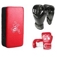 1 Pair Men Boxing Gloves Kick Boxing Target Pads Kids Muay Thai Gloves Sanda Karate Sandbag