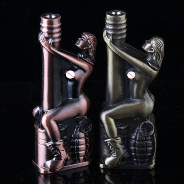 Personality Creative Lighters Butane Jet Lighter Turbo Torch Lighter Fire Windproof Spray Gun Metal Lighter Gadgets For Men