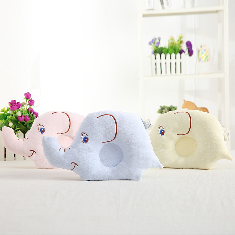 0-24M Newborn Baby Pillow Flat Head Sleeping Positioner Support Cushion Prevent Bebe Elephant Styling Pillow Gift