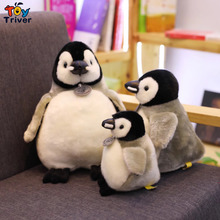 купить Plush Penguin Toy Stuffed Penguins Reallife Animal Doll Baby Kids Girl Children Triver Birthday Christmas Gift Toys Drop Ship по цене 585.53 рублей