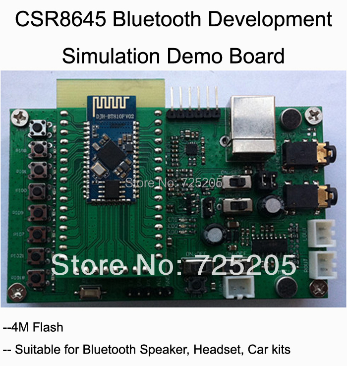 CSR8645 Rom Version Development Simulation-Board Demo Free Shipping fast free ship 16m flash csr8670 development board debug board demo board emulation board adk3 5 1 adk3 0 i2s spdif