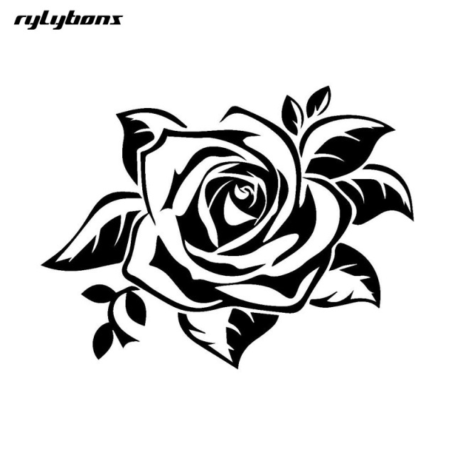 1pcs 1713cm 3d car styling stickers charm rose flowers car stickers and decals car