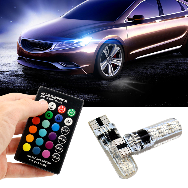 RGB T10 <font><b>W5W</b></font> <font><b>Led</b></font> 194 168 SMD Car Reading Lamp Clearance light RGB <font><b>Bulb</b></font> Canbus <font><b>12V</b></font> for BMW e36 e39 e46 e60 e90 f10 Car Accessories image