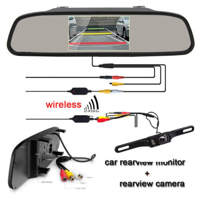 Cheapest promotion 2 4G Wireless Car Rear View Back up font b Camera b font 4