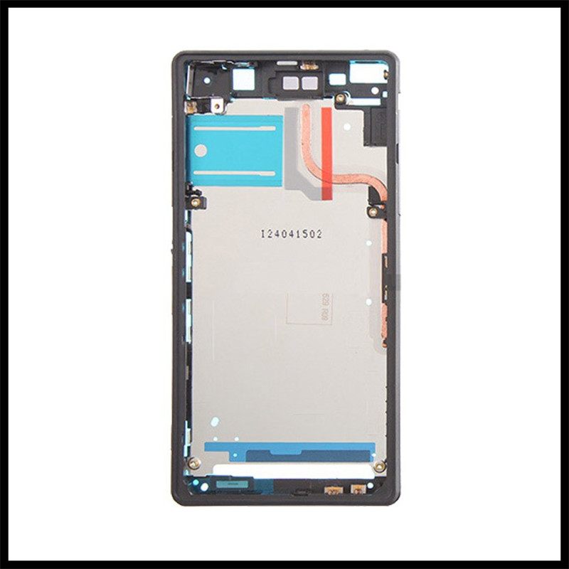 High QualityMiddle Bezel LCD Frame Cover For Sony Xperia Z2 D6502 D6503 D6543 Housing Chassis With USB Door Cap Plug+Side Button