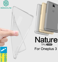 Nillkin Soft Clear TPU Case Cover For OnePlus Two 2 Dust Plug Nature Transparent Protector Skin
