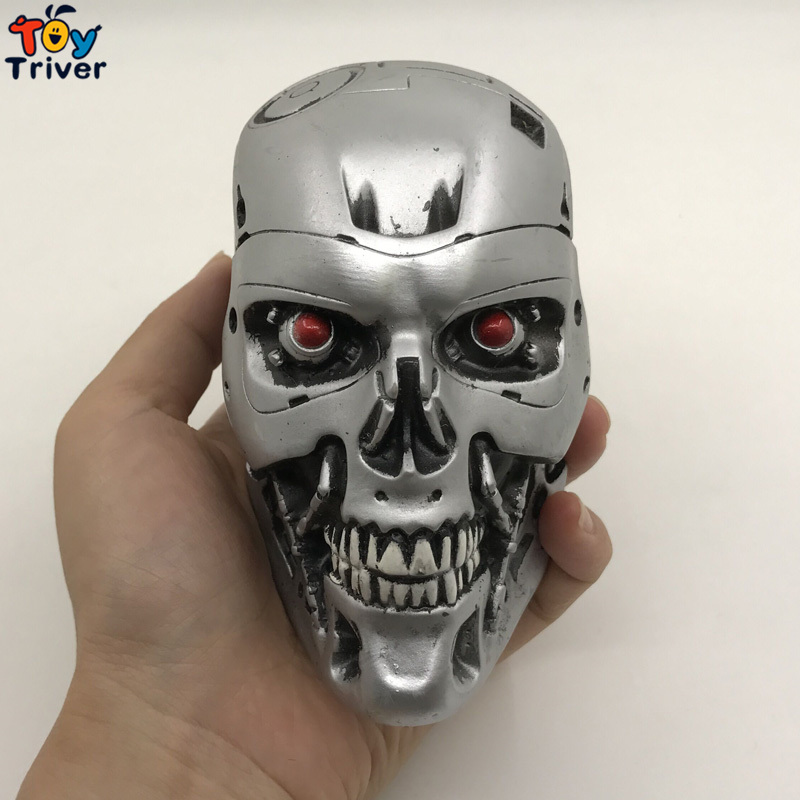 NECA Terminator T800 Arnold Schwarzenegger 13*8cm Skull Head sculpt model carving Home Decoration in stock boy boyfriend gift gmasking terminator 2 t800 endoskeleton skull head statue scale 1 2 replica