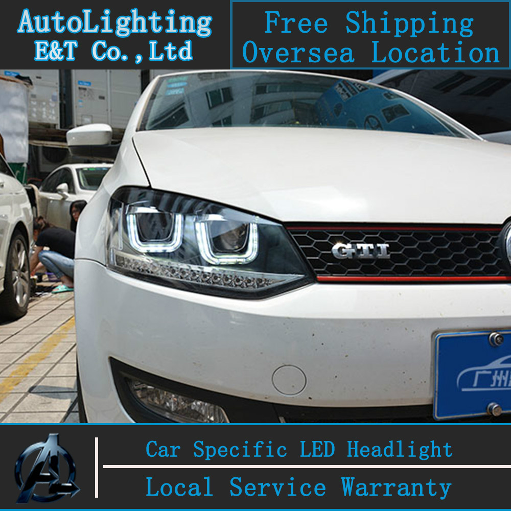 Car Styling Vw Polo Headlights Volks Wagen Gti Led Headlight Automobile Angel Eye Drl H7 Hid Bi Xenon Lens Low Beam In Light Assembly From