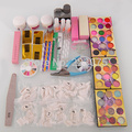 Hot Nail Art Kit 42 Acrylic Powder Brushes Sanding File Brush Glue Tips Hot Gift