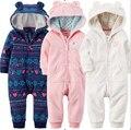 Primavera otoño de los bebés de la ropa de los bebés del mameluco polar recién nacido ropa infantil del mameluco homewear niños ropa de dormir