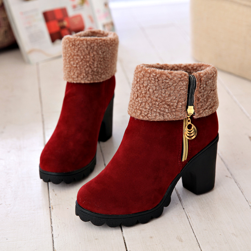 Aliexpress.com : Buy Hot Women Boots Winter High Heels Boots For ...
