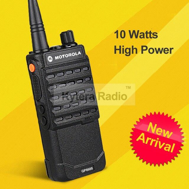 GP6600 Professional Walkie Talkie 10W 4000mAh UHF Long Range 10KM PTT Handheld Two Way Radio + Headset for Motorola