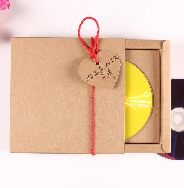 30 pcs Chất Lượng Cao Kraft CD Giấy Trường Hợp Trống Kraft Phong Bì Nâu Kraft Quà Tặng Giấy Phong Bì CD/DVD Giấy hộp Các Tông Carton
