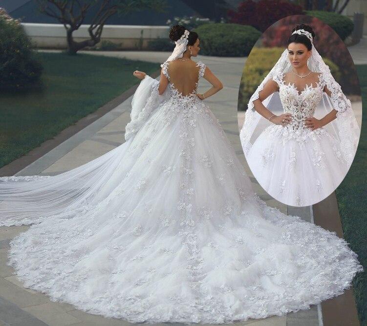 2017 Luxury Princess Ball Gown Wedding Dresses vestido de noiva de ...