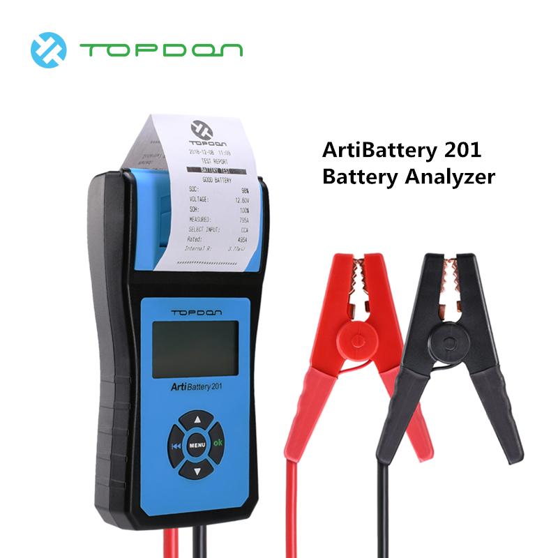 Charging & Starting Systems Back To Search Resultsautomobiles & Motorcycles Topdon Artibattery 201 Ab201 Battery Analyzer Digital Tester With Cranking/battery/charging 12v/24v Automotive Car System Hd