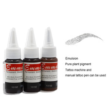 3pcs / lot Hoge kwaliteit semi-permanente make-up wenkbrauw tattoo inkt Emma van Factory Direct voor Liberty digitale tattoo gun kit