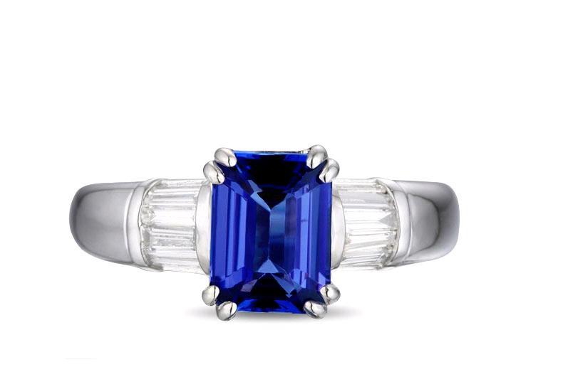 1.73 Carat Natural Tanzanite Ring Natural synthetic diamant Ring Womens Fashion Engagement Wedding Ring (CM)1.73 Carat Natural Tanzanite Ring Natural synthetic diamant Ring Womens Fashion Engagement Wedding Ring (CM)