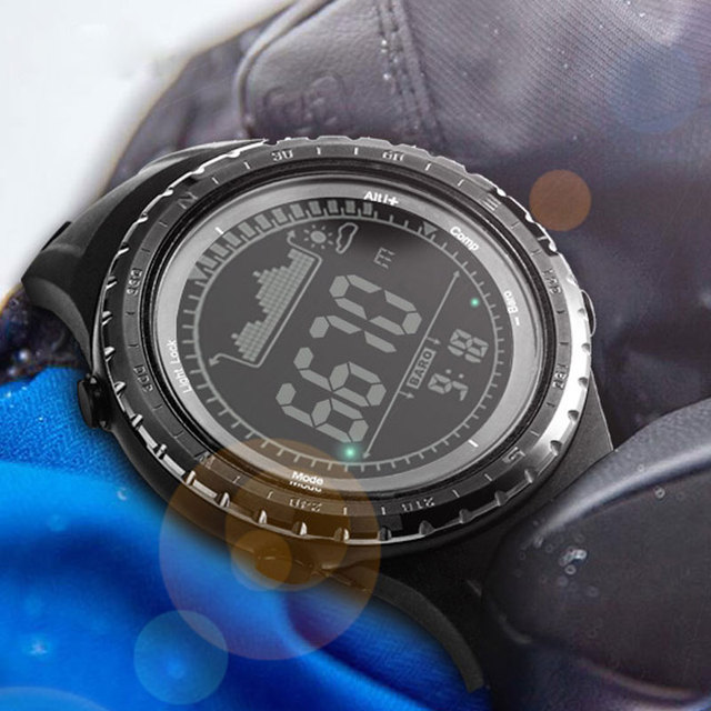 NORTHEDGE мужские спортивные цифровые часы, часы для бега, водонепроницаемые часы, высотомер, водонепроницаемый, погода, большой светодиодный, умные часы
