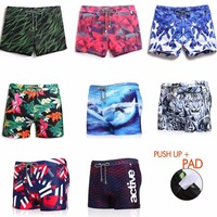 Men Swimming Trunks Include PAD Swimwear Swimming Briefs Board Shorts Swimsuit Man Surf beach Straight Trunks
