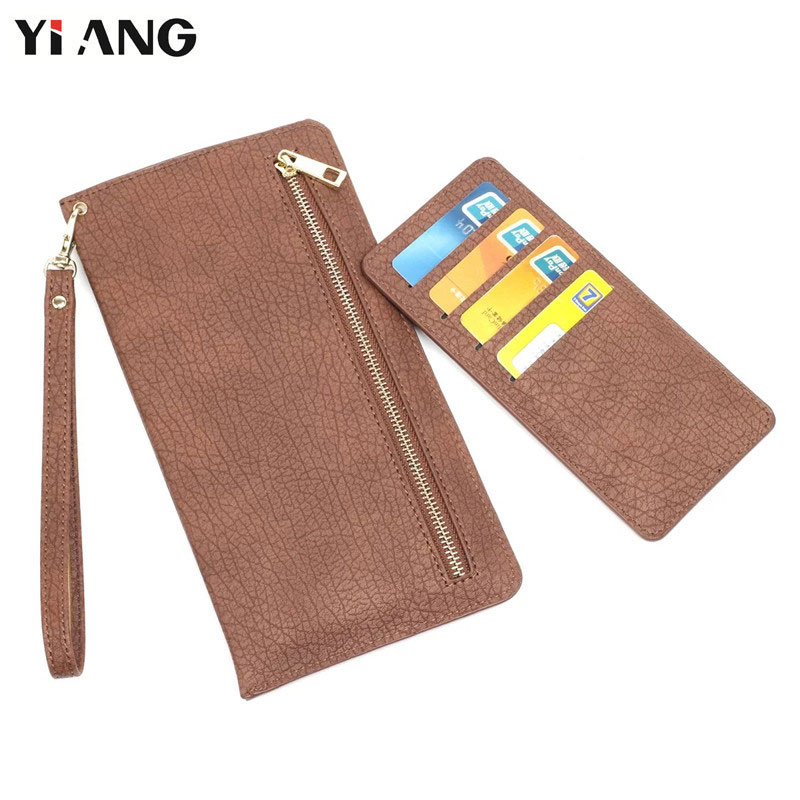 YIANG Fashion Womens Wallets and Purses Small Wallet for Credit Cards 6.3 inch PU Leather Mobile Phone Bag Mini Pouch