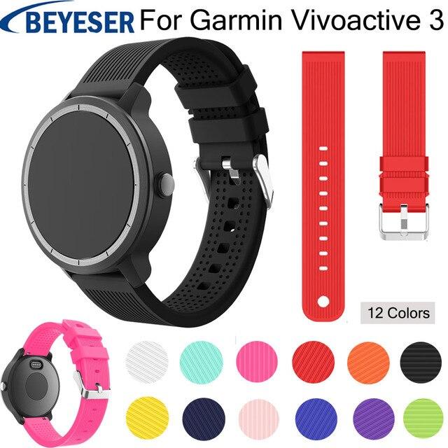 20mm שעון רצועת עבור Garmin vivoactive 3 סיליקון להקת עבור Garmin 645 רצועת השעון לגלקסי שעון פעיל החלפת יד חגורת