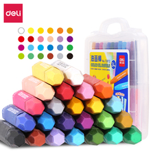 Deli 24 colors/box color oil pastel Crayons Artist drawing pens for kids professional wax crayon school supplies stationery uni colored pencil crayon art drawing crayons school stationery office art supplies oil crayons rip by hand crayon 7600