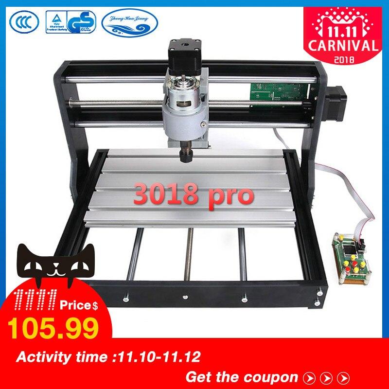 CNC 3018 Pro GRBL contrôle Diy mini cnc machine, 3 Axe pcb fraiseuse, bois Routeur de gravure laser, avec contrôleur hors ligne