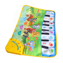 New 1Pc Children Baby Play Gift Touch Musical keyboard Singing Animal Carpet Mat Piano Toy 110x36cm musical mat keyboard music carpets piano play mat touch keys melody instrument educational toy gift for boys