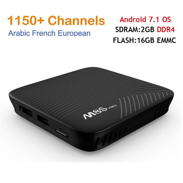 M8S Pro Amlogic S912 Android 7 1 TV BOX HD Smart tv Italy French Arabic iptv