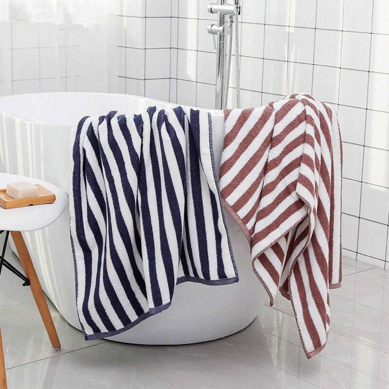 70x140 cm Toalla de baño para adultos 100% algodón a rayas hoja de baño suave Toalla de viaje playa toalla absorbente Toalla de baño