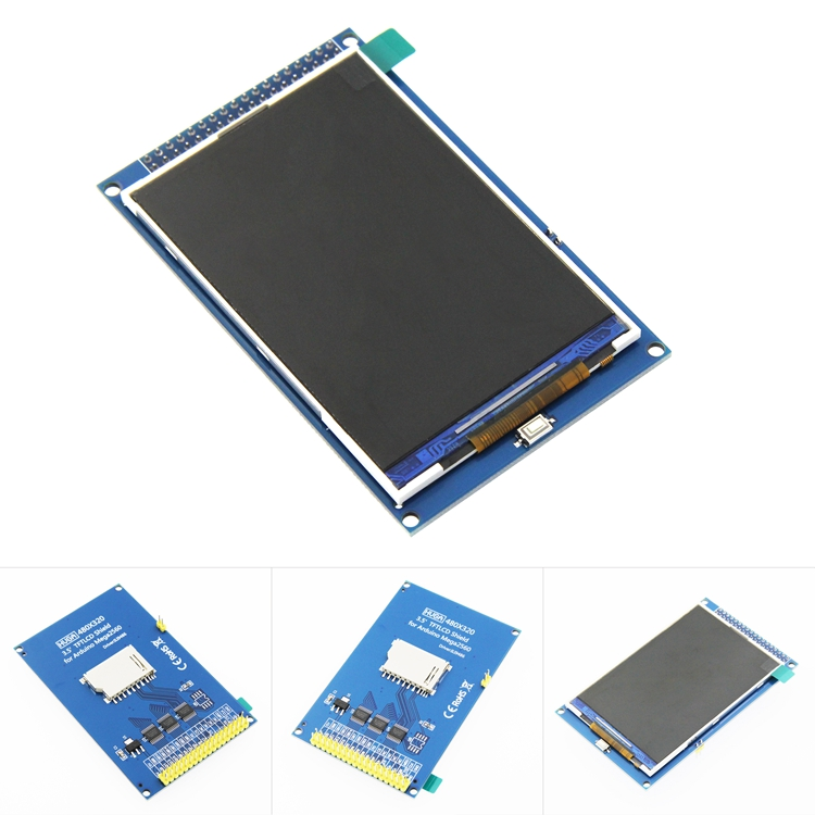 Free Shipping! 3.5 Inch TFT LCD Screen Module Ultra HD 320X480 For Arduino MEGA 2560 R3 Board
