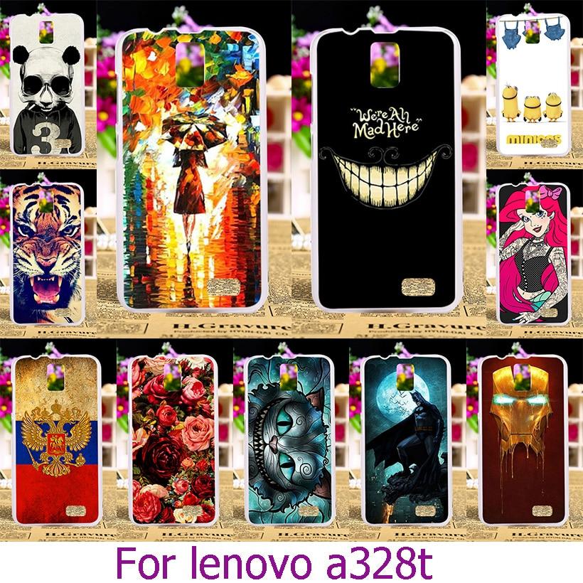 AKABEILA Soft TPU Hard Plastic Phone Case For font b Lenovo b font A328T 4 5