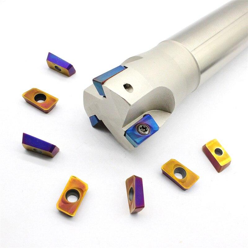 APMT1604 PDER 10 PCS + 1 PCS BAP400R C32 40 400 3T titular carboneto de Moagem inserir ferramentas de fresamento cortador de ToAPMT1604 PDER 10 PCS + 1 PCS BAP400R C32 40 400 3T titular carboneto de Moagem inserir ferramentas de fresamento cortador de To