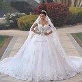 Vestido де noiva принцеса Свадебные Платья See Through Лиф Sexy Back Свадебные Платья Королевский Хвост Люкс свадебное Платье Robe Mariage
