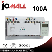 100A 3 phase automatic transfer switch ats with English controller 100a three phase genset ats automatic transfer switch 4p ats 100a