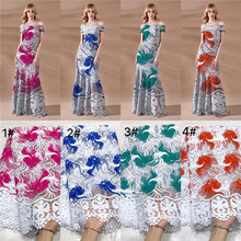 African lace fabric,100%Polyester embroidery flower net lace,high quality Nigerian fabric with rhinestone for wedding dress