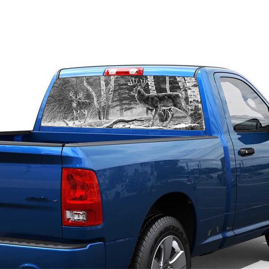 Moose�Rear Window Graphic Back Truck Decal SUV View Thru Vinyl Hunter