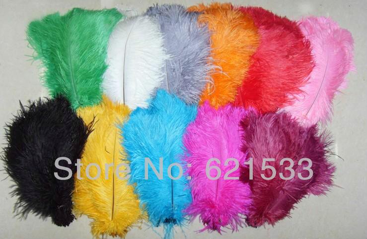 Velkoobchod 100PCS A Quality Natural OSTRICH FEATHERS 16-18inch 40-45CM Svatební dekorace Party freeshipping