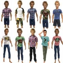 NK одна штука кукла повседневная одежда футболка брюки Летняя одежда Короткие штаны Одежда для Кена смешанный стиль для Барби аксессуары для куклы Кена JJ