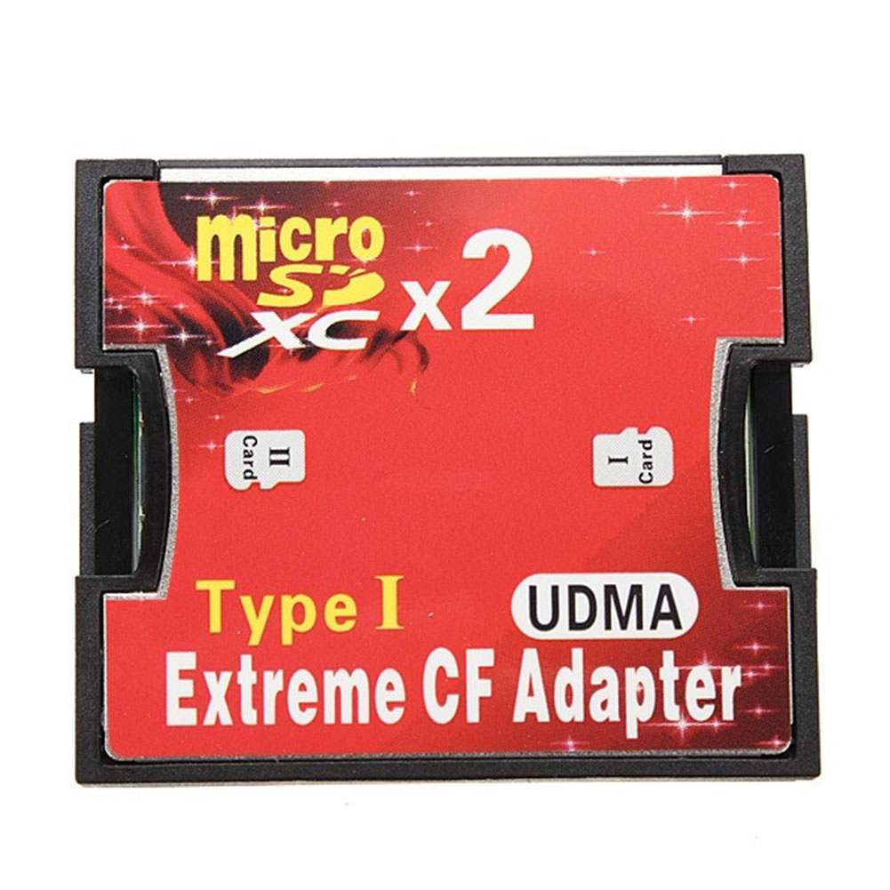 Memory Card Reader 2 Port Micro SD TF to CF Adapter MicroSD MicroSDHC to Compact Flash Type I Memory Card Reader Converter .