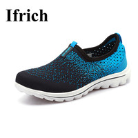 Ifrich Mens Shoes Sports Shoes Summer Slip On Men Walking Running Shoes 2017 Cheap Gym Sneakers