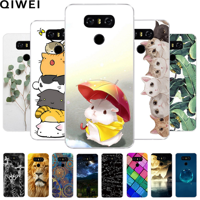 size 40 f91ab 76d2a US $1.23 5% OFF|For LG G6 Case Cover 5.7 Clear Printing Soft TPU Back Cover  For LG6 LGG6 G 6 H870DS H870 Silicone Protecor Fundas Phone Cases-in ...