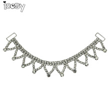Bling Rhinestone Buckle Diamond Metal Chain for Necklace DIY Decorative Jewelry Accessories Drop Shipping