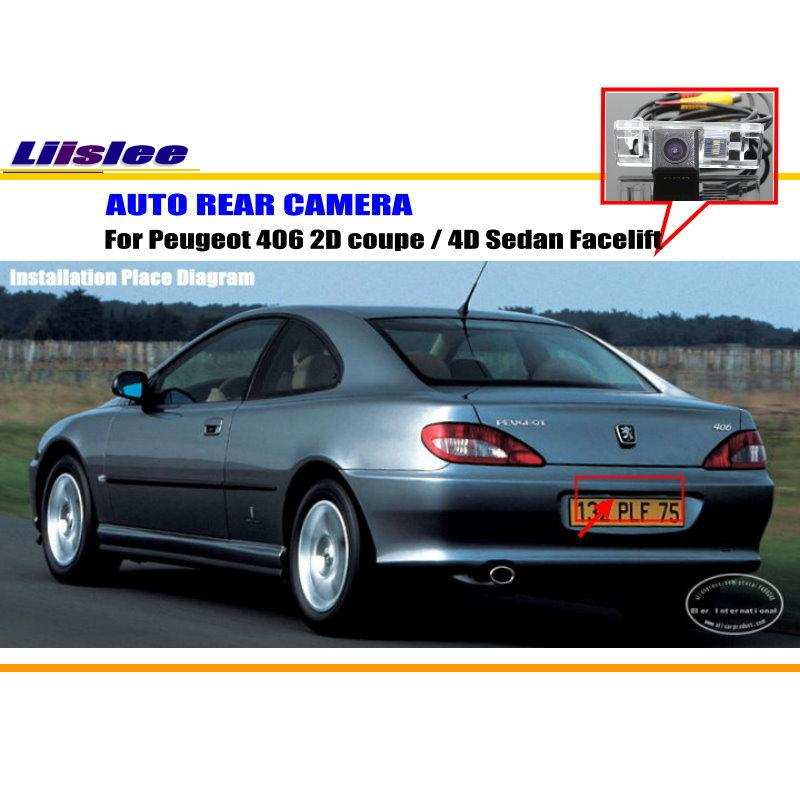Liislee Rear View Camera For <font><b>Peugeot</b></font> <font><b>406</b></font> 2D <font><b>coupe</b></font> / 4D Sedan Facelift / Reverse Camera / NTST PAL / License Plate Light OEM image